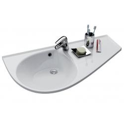 RAVAK Umývadlo Avocado Comfort biele s otvormi, L/P variant, XJ9L1100000 (XJ9P1100000)