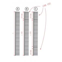 ALCAPLAST doplnok k roštu APZ1 LINE 100 mat