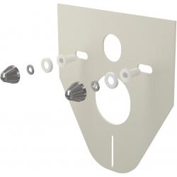 ALCAPLAST izolačná doska pre závesné wc a bidet s príslušenstvom a krytkou (chróm) kod M910CR