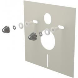ALCAPLAST izolačná doska pre závesné wc a bidet s príslušenstvom a krytkou (chróm) kod M930CR
