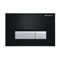 GEBERIT tlačidlo SIGMA40 Čierna / Brúsený hliník, kód 115.600.KR.1
