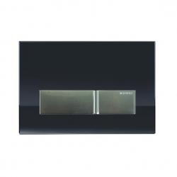 GEBERIT tlačidlo SIGMA40 Čierne sklo / Brúsený hliník, kód 115.600.SJ.1