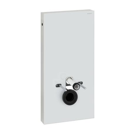 GEBERIT MONOLITH pre závesné WC - obj. č. 131.022.SI.1, biele sklo/brúsený hliník, prívod vody z boku