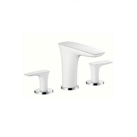 Hansgrohe trojotvorová umývadlová armatúra Pura Vida biela/chróm kód 15073400