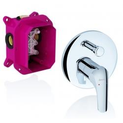 RAVAK vaňová a sprchová podomietková batéria s prepínačom ROSA pre R-box kód RS 065.00