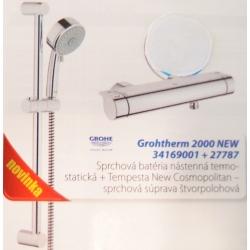 GROHE sprchová batéria termostat GROHTHERM 2000 NEW 34169001 + sprchová súprava 27787
