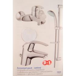 GROHE vaňový a sprchový set EUROSMART PACK 3v1