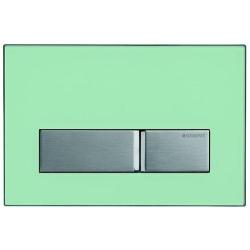 GEBERIT ovládacie tlačidlo SIGMA50 prevedenie Zelené sklo satinované kód 115.788.SE.5