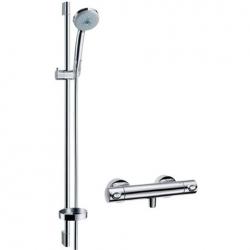 Hansgrohe sprchová sada s termostatom Croma 100 Multi/Ecostat 1001 SL, kombinácia 0,65 m chróm kód 27086000