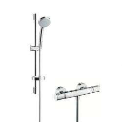 Hansgrohe sprchová sada s termostatom Croma 100 Vario/Ecostat Comfort, kombinácia 0,65 m chróm kód 27034000