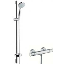 Hansgrohe sprchová sada s termostatom Croma 100 Vario/Ecostat Comfort, kombinácia 0,90 m chróm kód 27035000