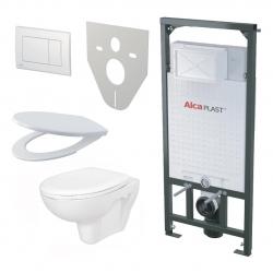 ALCAPLAST akciový SET 5 v 1: Sadromodul + WC misa + WC sedátko + ovlád.tlačítko + izolačná doska
