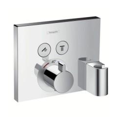 Hansgrohe Shower Select, termostatická batéria pod omietku pre 2 spotrebiče s držiakom ručnej sprchy - chróm, kód 15765000