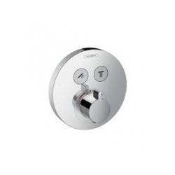 Hansgrohe ShowerSelect S termostatická batéria pod omietku pre 2 spotrebiče - chróm, kód 15743000