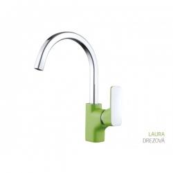 BATH CONCEPT drezová umývadlová batéria - zelená chróm