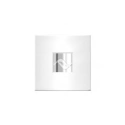 Zehnder Silent dekoračný kryt 18 x 18cm,biely s vložkou Rythm,chróm