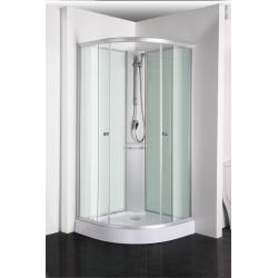 Sanotechhnik sprchový box bez strechy štvrťkruh RIO 90x90 cm