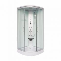 Sanotechnik QuickLine sprchový box štvrťkruh s elektronikou Scala biely 90x90