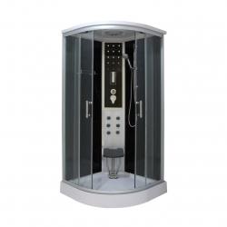 Sanotechhnik QuickLine parný sprchový box štvrťkruh Relax 90x90 cm