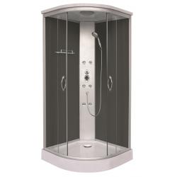 Sanotechnik QuickLine sprchový box štvrťkruh Punto čierny 90x90
