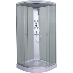Sanotechnik QuickLine sprchový box štvrťkruh Punto biely 90x90