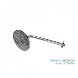 Bath Concept rameno + sprchová hlavica oválna - lesklý chróm