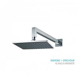 Bath Concept rameno + sprchová hlavica hranatá - chróm