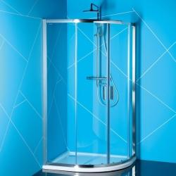 EASY LINE900x800mm,obdĺžniková sprchová zástena, číre sklo
