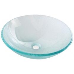 Sapho ICE sklenené umývadlo priemer 42cm