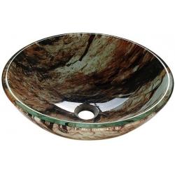Sapho ROCK sklenené umývadlo priemer 42cm