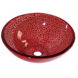 Sapho VENEZIA sklenené umývadlo priemer 42cm