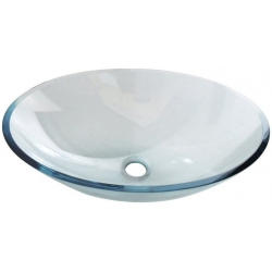 Sapho PURE sklenené umývadlo oválne 52x37,5cm