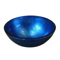 Sapho MURANO sklenené umývadlo 40x13cm, modré