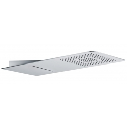 Sapho Slim - Hlavová sprcha zo steny s kaskádou 220 x 500 x 2,4 mm, leštená nerez