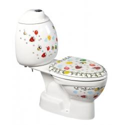 Sapho KID detské WC kombi vr.nádržky, spodný odpad, farebná potlač