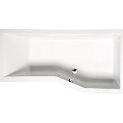 Polysan VERSYS 160x85x70cm asymetrická vaňa s podstavcom , pravá, biela