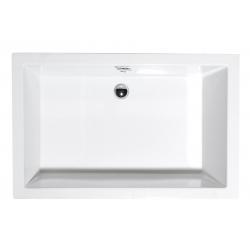 Sapho DEEP 120x75x26cm,sprchová vanička obdĺžnik, hlboká, biela s podstavcom