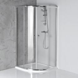 Aqualine ARLETA 90x90cm štvrťkruhová sprchová zástena, číre sklo