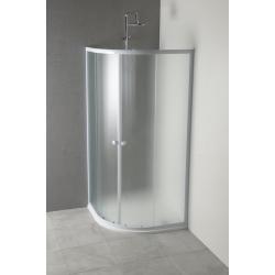 Sapho ARLEN štvrťkruhová sprchová zástena 900x900mm, matné sklo Brick