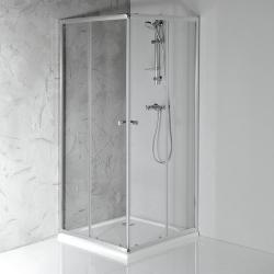 Aqualine AGGA 800x800mm,štvorcová sprchová zástena, číre sklo