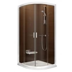 RAVAK Blix BLCP4-90 sprchovací kút štvrťkruhový posuvný, white + transparent