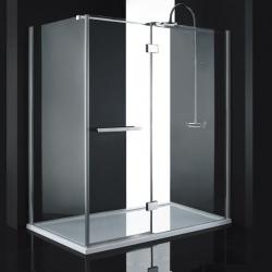 Aquatek Crystal R63 sprchovací kút 160x90cm, profil chróm, sklo číre, výška 200 cm
