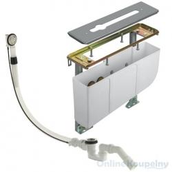 montážna jednotka pre vaňový okrajový systém sada pre hrubé zabudovanie pre 3-otvorové batérie