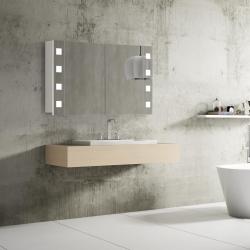 Bath Concept ZRKADLOVÁ SKRINKA NAZARE 100 BIELA 2-DVEROVÁ S LED OSVETLENÍM