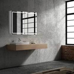 Bath Concept ZRKADLOVÁ SKRINKA Hapa Design MILANO 80 biela, 2 dvere s LED osvetlením