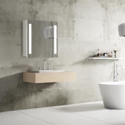 Bath Concept ZRKADLOVÁ SKRINKA Hapa Design VENEDIG 60 biela , 1 dvere s LED osvetlením