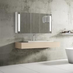 Bath Concept ZRKADLOVÁ SKRINKA Hapa Design VENEDIG 120 biela , 3 dvere s LED osvetlením