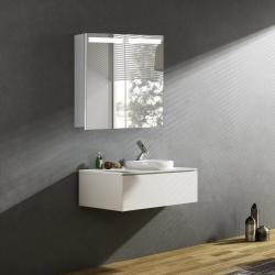Bath Concept ZRKADLOVÁ SKRINKA Hapa Design ORLANDO 60 biela , 2 dvere s LED osvetlením
