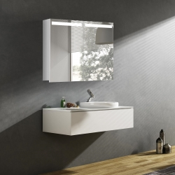 Bath Concept ZRKADLOVÁ SKRINKA Hapa Design ORLANDO 80 biela , 2 dvere s LED osvetlením