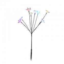Záhradný LED solárny kvetinový ker Sharks SA081